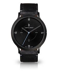 Lilienthal Berlin Urbania All Black Leather Watch 40mm