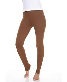 White Mark Solid Leggings