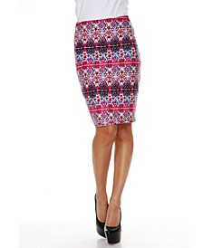 Kaleidoscope Craze Print 'Victoria' Pencil Skirt