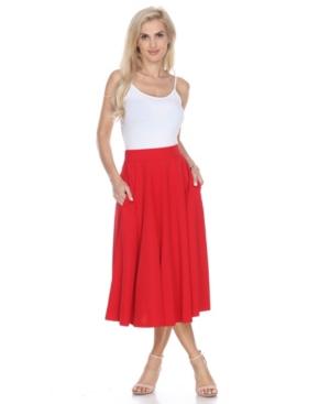 1950s Swing Skirt, Poodle Skirt, Pencil Skirts White Mark Flared Midi Skirt with Pockets $43.00 AT vintagedancer.com