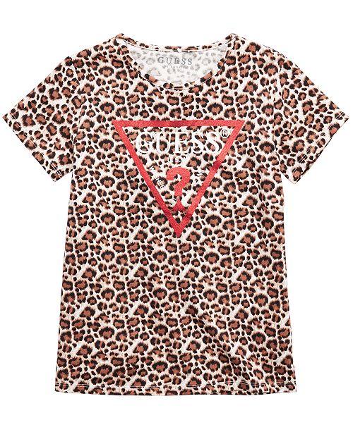 GUESS Big Girls Animal-Print Logo T-Shirt