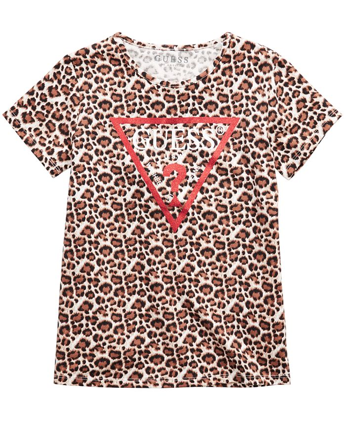 GUESS - Big Girls Animal-Print Logo T-Shirt