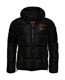 Gym Tech Gold Puffer Jacket