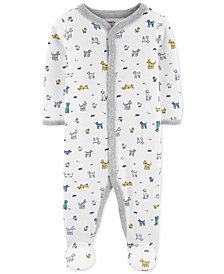 Carter's Baby Boys 1-Pc. Dog-Print Cotton Footed Pajamas