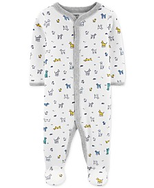 Carter's Baby Boys 1-Pc. Dog-Print Cotton Footed Pajamas