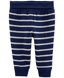 Baby Boys Striped Fleece Pants