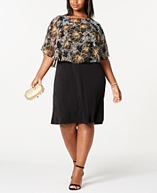 Trendy Plus Size Chiffon Overlay Dress