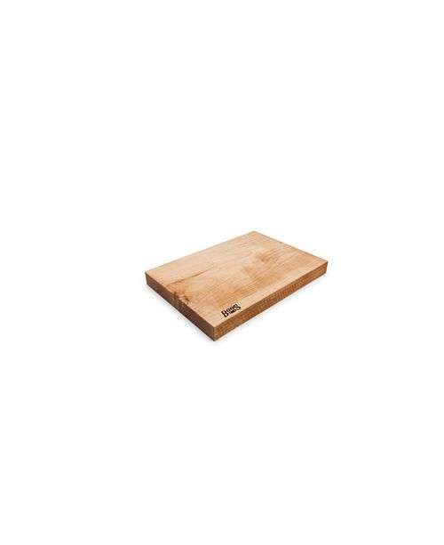 "John Boos Rustic Maple Wood 17"" x 12"" Reversible Edge Grain Cutting Board"