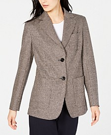 Gancio Plaid Two-Button Blazer