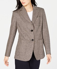 Weekend Max Mara Gancio Plaid Two-Button Blazer