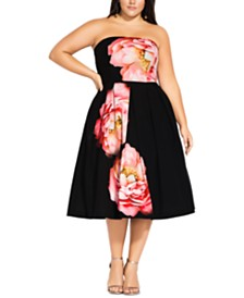 City Chic Trendy Plus Size Sublime Bloom Dress