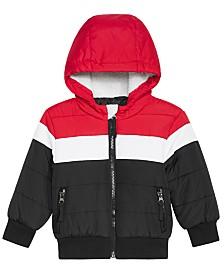 Baby Boys Colorblocked Hooded Bomber Jacket