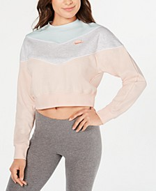 Women's Colorblocked Fleece Cropped Sweatshirt