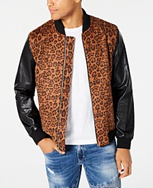 INC Men's Leopard Print Bomber Jacket, Created for Macy's