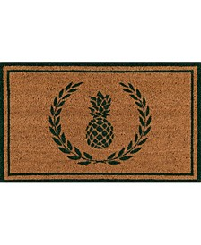 "Park Par-1 Pineapple Black 1'6"" x 2'6"" Area Rug"