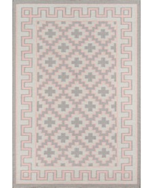 "Thompson Tho-4 Brookline Pink 2'3"" x 8' Runner Area Rug"