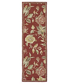 "Khazana Savannah-57 Red 2'3"" x 7'6"" Runner Rug"