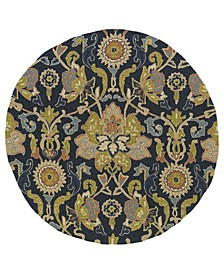 """Home and Porch 2042-22 Navy 5'9"""" Round"""