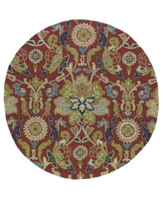 """Home and Porch 2042-25 Red 5'9"""" Round"""