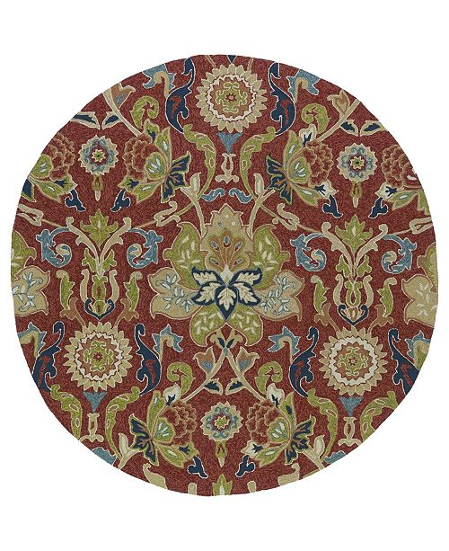 """Kaleen Home and Porch 2042-25 Red 5'9"""" Round"""