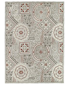 "Brooklyn Xander-02 Pewter 5' x 7'6"" Area Rug"