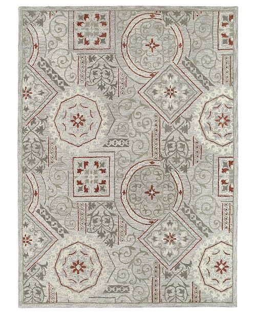 "Kaleen Brooklyn Xander-02 Pewter 5' x 7'6"" Area Rug"