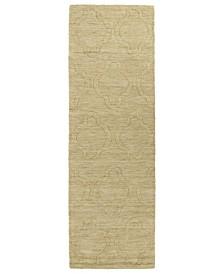 """Imprints Modern IPM02-28 Yellow 2'6"""" x 8' Runner Rug"""
