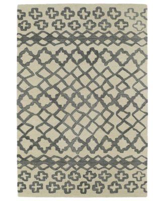 """Casablanca CAS01-75 Gray 9'6"""" x 13'6"""" Area Rug"""