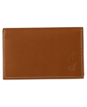 Polo Ralph Lauren Men's Wallet,  Burnished Slim Credit Card Case with Id Slot