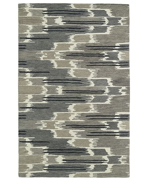 "Kaleen Global Inspirations GLB02-75 Gray 5' x 7'9"" Area Rug"