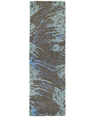 "Brushstrokes BRS01-40 Chocolate 2'6"" x 8' Runner Rug"