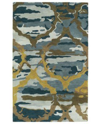 Brushstrokes BRS02-17 Blue 2' x 3' Area Rug