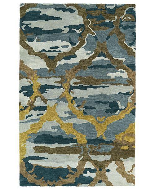 "Kaleen Brushstrokes BRS02-17 Blue 9'6"" x 13' Area Rug"