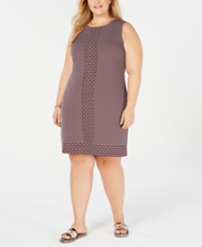 Michael Michael Kors Plus Size Printed Sleeveless Dress