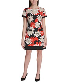 Tommy Hilfiger Floral-Print A-Line Dress