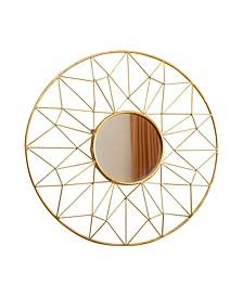 Cera Round Gold Wall Mirror