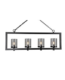 Abbyson Living Oni 4 Light Black Chandelier