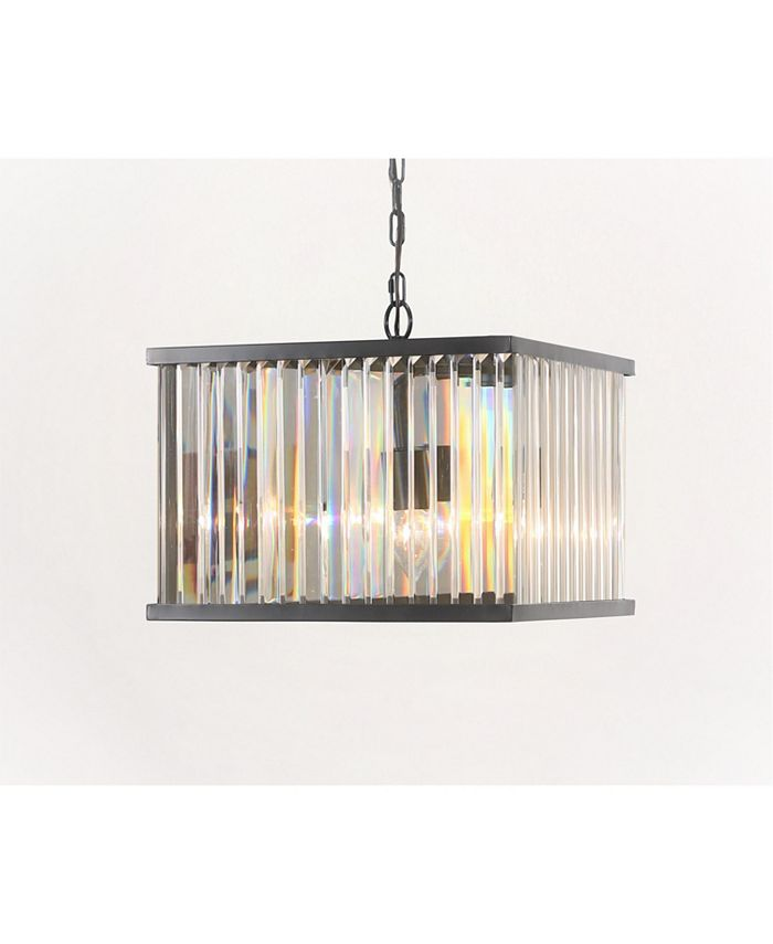 Abbyson Living - Zula Square Crystal Chandelier