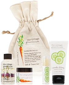 4-Pc. Veggies Glow-On-The-Go Gift & Travel Set