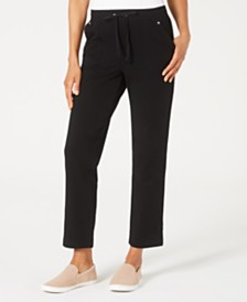 Karen Scott Petite French Terry Pants, Created for Macy's