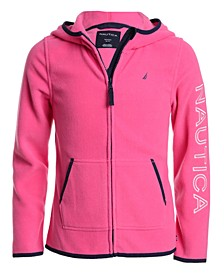 Little Girls Zip-Up Polar Fleece Hoodie