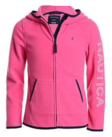 Nautica Little Girls Zip-Up Polar Fleece Hoodie