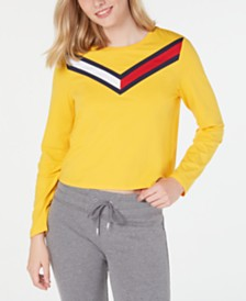 Tommy Hilfiger Varsity-Stripe Cropped Top