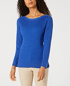 Boat-Neck Cotton Sweater, Created for Macy's