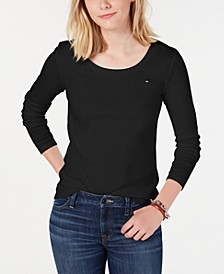 Cotton Scoopneck Top, Created for Macy's