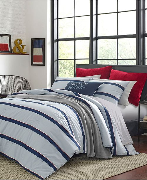 Nautica Fending Grey Comforter Sham Set, King