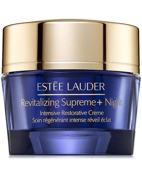 71f04ed44 Estee Lauder Revitalizing Supreme+ Night Intensive Restorative Creme, 1.7-oz .