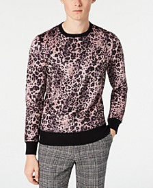 Men's Slim-Fit Pink Leopard Sweater