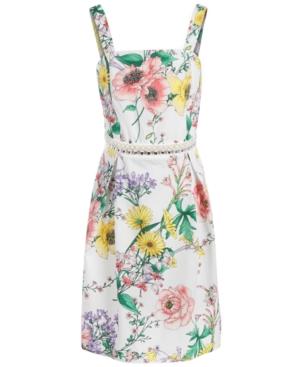 Monteau Big Girls Embellished Floral-Print Dress