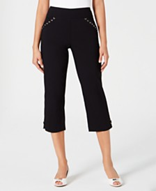 JM Collection Tummy-Control Capri Pants, Created for Macy's